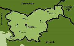Kaart Slovenië